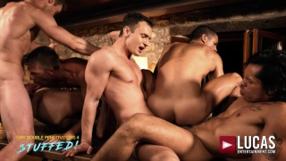 IBRAHIM MORENO gets double fucked in six-man orgy