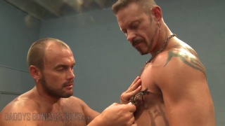 Colin Steele and Jessie Balboa in rough gym sex