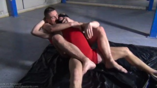 forced to take wrestling stud's big cock
