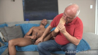black guy gets his 9-inch dick serviced