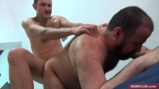 two men fuck at Gay Pride in Madrid