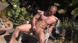 COLT man lubes up and strokes