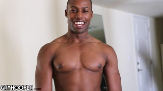 Tyler Smith jerks his big black cock