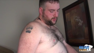 bear cub plays with dildo in the shower until ...