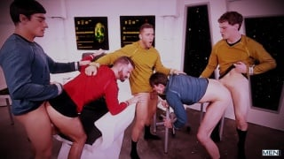 The Enterprise and her crew have a fucking good time