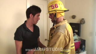 Surfer dude fucks horny firefighter