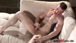Scott Hunter jerks his pierced cock