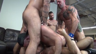 huge gang bang with alex mason