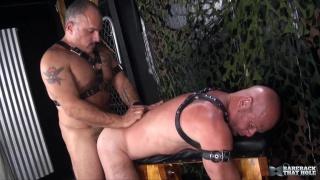 Jay Ricci bends Luis Casola over a fuck bench