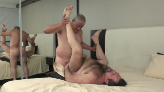 big hairy bear gets fucked by his silver daddy lover