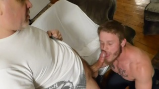 beefy muscle guy services two daddies