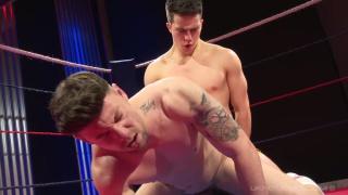 wrestler Brute Club fucks Theo Reid in the ring