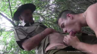 dick casey blows park ranger in the woods