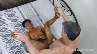 daddy mike tickle and fucks his asian boy