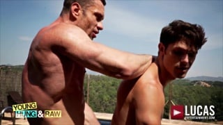 STAS LANDON bare fucks DEVIN FRANCO outdoors