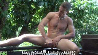 competitive Bodybuilder and Surfer miller strokes outside