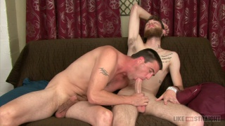 muscle stud sucks bearded dudes 9-inch cock