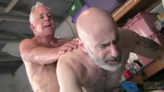 daddy worships buddy's thick precumming cock