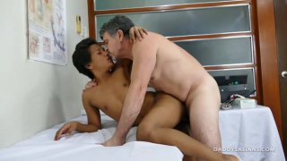 doctor daddy probes asian patient with his dildo