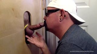 cock-sucking daddy gets moutful of black dick