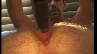two black tops fuck a furry white butt