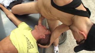 guy pays off gambling debt by sucking two guys