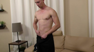 blond guy vance does his first JO video
