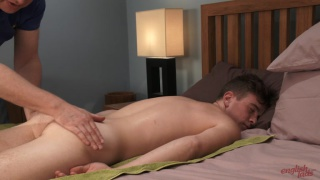 Caspar Hamilton gets a massage and handjob ... first one!