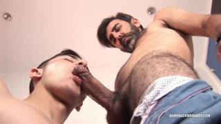 Latin boy Jack fucked by his hairy daddy
