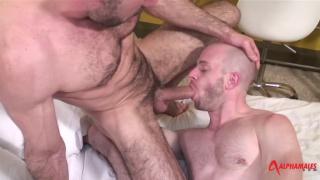 Michel Rudin face fucks bald cocksucker