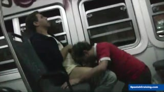 guy gets blowjob on train