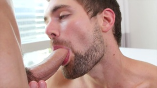 griffin deep throats aiden's 9-inch cock