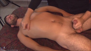 bearded stud trey gets happy-ending massage