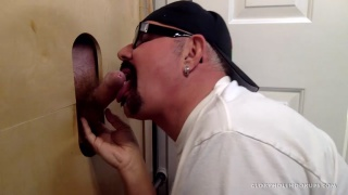 business man's first gloryhole experience