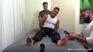 Tommy cheated on a contest and gets tickled
