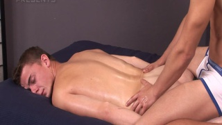 sexy czech stud gets a horny massage with ass play
