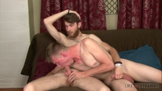 furry dude shoves in 9 inches in blond guy's ass