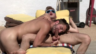 Wesley Woods fucks power bottom Austin Ryder