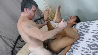 daddy screws his asian boy's ass