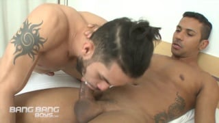 brazilian with a man bun gets his ass fucked