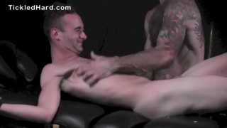 twinky guy squirms and giggles as he's tickled