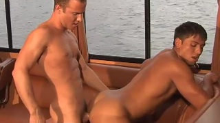 two hot guys fucking on a boat