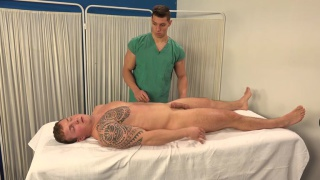Peter Lipnik gets an exam from his doctor