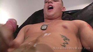 marine stud uses a cock pump and cums