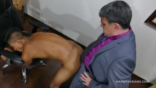 daddy in suit fucks his asian lover