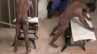 Kyle endures a hard spanking