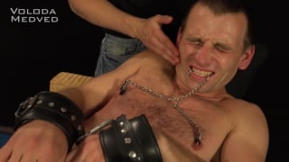 bound spanking with Voloda Medved