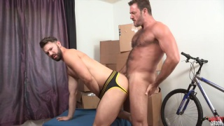 hairy muscle daddy fucks a hot piece of ass