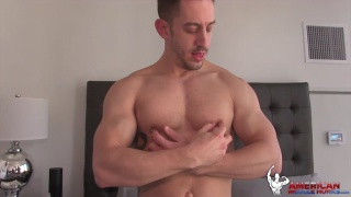 geeky hung stud Bryan Cole jerks off