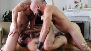 stephen harte gets drilled by damon andros and west